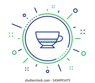 Bombon coffee icon. Hot drink sign. Beverage symbol. Quality design elements. Technology bombon coffee button. Editable stroke. Vector