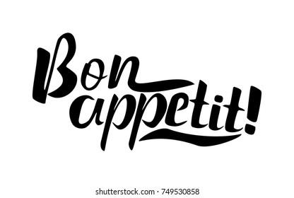 Bon appetit 2 lettering