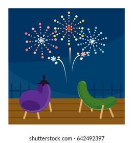 Bon Festival's Firework