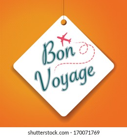 Bon Voyage - Vector Paper tag / sticker