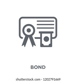 Bond icon. Bond design concept from Bond collection. Simple element vector illustration on white background.
