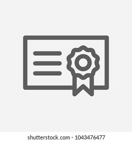 Bond icon line symbol. Isolated vector illustration of  icon sign concept for your web site mobile app logo UI design.