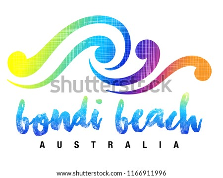 7716df1988586c Bondi Beach Name Lettering Logo Calligraphy Stock Vector (Royalty ...
