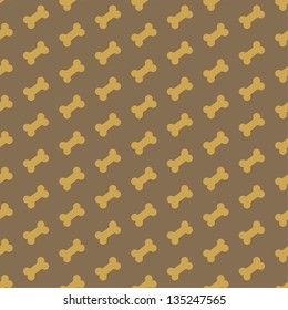 bone for dog seamless texture vector illustration