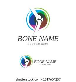 Bone Plus logo. Healthy bone Icon. Knee bones and joints care protection logo template. Medical flat logo design. Vector of human body health. Emblem symbol