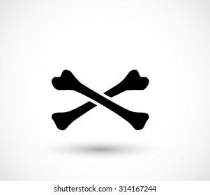 Bones crossed vector