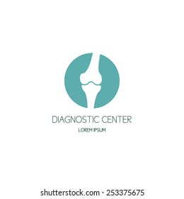 Bones diagnostic center logo. Vector illustration.