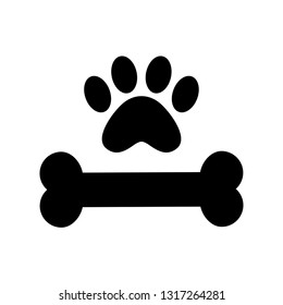 bones and dog foot, logo template, dog
