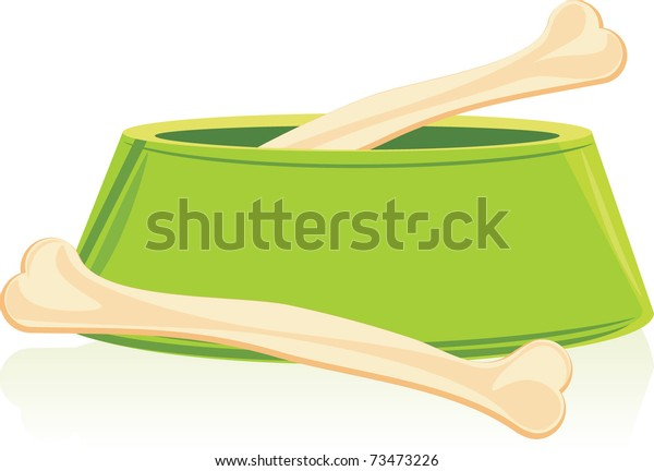 bones-green-doggy-bowl-vector-600w-73473