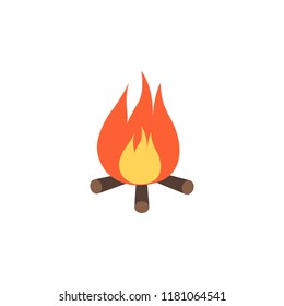 bonfire colored icon. Element of colored autumn icon for mobile concept and web apps. Colored bonfire icon can be used for web and mobile on white background
