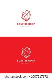 Bonfire corporation logo template.