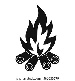 Bonfire icon. Simple illustration of bonfire vector icon for web