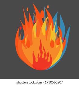 Bonfire on a dark background