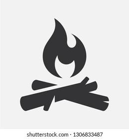 Bonfire. Simple vector icon