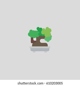 bonsai icon flat design