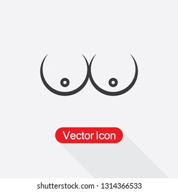 Boobs Icon Vector Illustratration Eps10