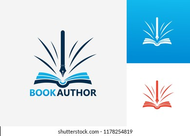 Book Author Logo Template Design Vector, Emblem, Design Concept, Creative Symbol, Icon