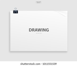 Book binder with empty cover for background. Template design (mock up) for catalogue, portfolio, page presentation. Vector illustration graphic idea for construction drawing background.