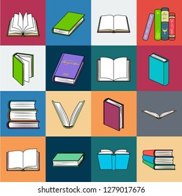 Book in the binding cartoon icons in set collection for design. Printed products vector symbol stock web illustration.