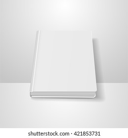 book blank cover, vector mock up book, isolated mockup book