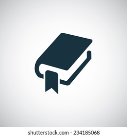 book bookmark icon on white background