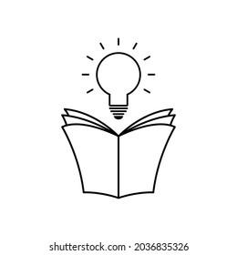 book with bulb icon. education symbol vector idea icon