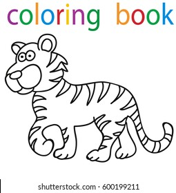Tiger Coloring Book Images Stock Photos Vectors Shutterstock