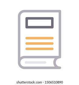 book colour line vector icon