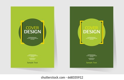 book cover annual report design layout stock vector royalty free