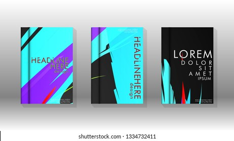Book Cover colorful geometric backgrounds. Simple form composition. Eps10 vector spray template