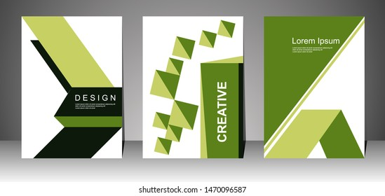 Book cover design for business. Annual report layout. Brochure template. magazine. presentation cover. vector illustration