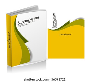 book cover design isolated over colorful background.