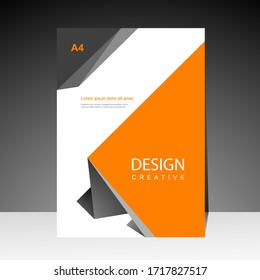 Book cover design modern. Annual report. Brochure template, Poster, catalog. Simple Flyer promotion. magazine. Vector illustration