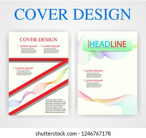 book cover design template geometry vector stock vector royalty