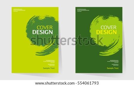 Book Cover Design Vector Template A 4 Image Vectorielle De Stock