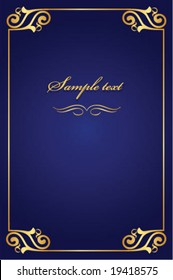 book cover - gold with blue