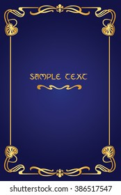 Book cover like Art Nouveau Frame like Art Nouveau