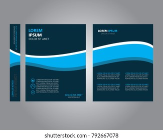 Book cover.modern template design.annual report.Flyer template