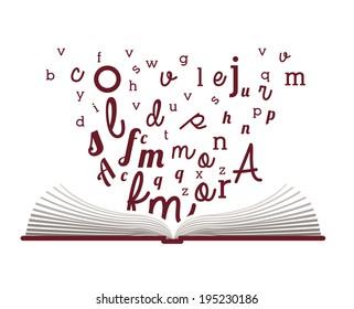 Book  design over white background, vector illustration