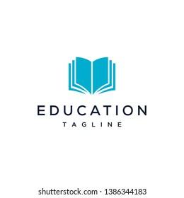 book education concept logo design