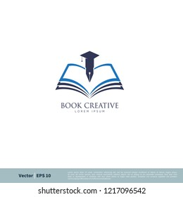 book education element logo template