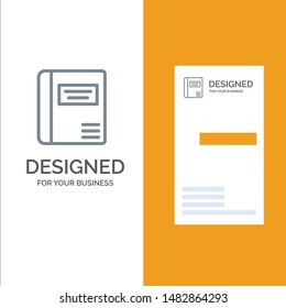 Book, Education, Medical Book, Medical Grey Logo Design and Business Card Template