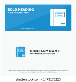 Book, Education, Medical Book, Medical SOlid Icon Website Banner and Business Logo Template