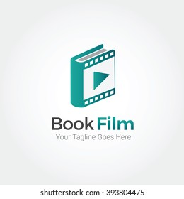 Book Film Logo Template Design