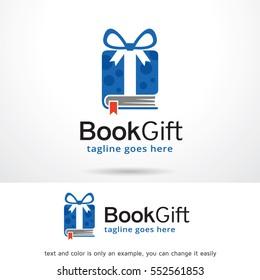 Book Gift Logo Template Design Vector / Icon Design