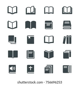Book glyph icons