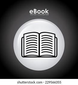 book graphic design , vector illustration