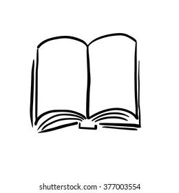 Book hand drawn vector illustration