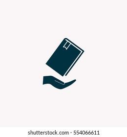 book in hand, vector illustration