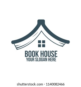 book house and abstract logo concept for company, corporate, foundation, business, startup and enterprise.